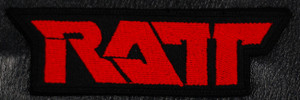 "Ratt Red Logo 4x1.5"" Embroidered Patch"