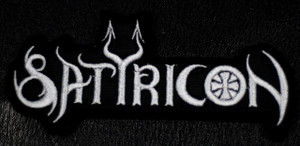 "Satyricon White Logo 5x2"" Embroidered Patch"