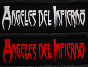 """Angeles del Infierno Logo 4x1"""" Embroidered Patch"""