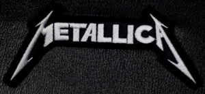 """Metallica Classic Logo 4x2"""" Embroidered Patch"""