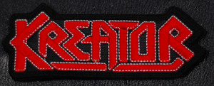 """Kreator Red/Black Logo 4x5"""" Embroidered Patch"""