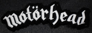 """Motorhead White Logo 5.5x2.5"""" Embroidered Patch"""