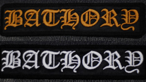 "Bathory Logo 5x1"" Embroidered Patch"