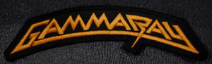 """Gamma Ray Gold Logo 5.5x2"""" Embroidered Patch"""