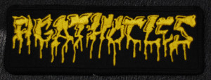 """Agathocles Yellow Logo 4.5x1"""" Embroidered Patch"""