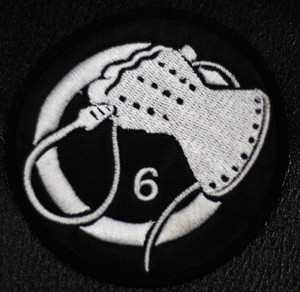 "Death In June Glove 3x3"" White Embroidered Patch"