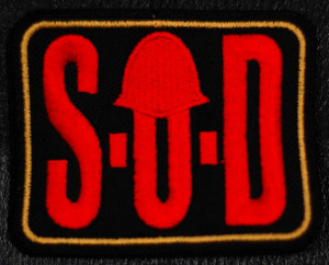 """S.O.D. Logo 4x3"""" Embroidered Patch"""