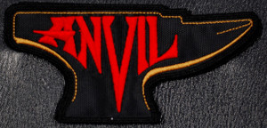 "Anvil Red/Gold Logo 5x3"" Embroidered Patch"