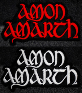 """Amon Amarth Logo 3x1.5"""" Embroidered Patch"""