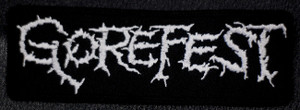 """Gorefest Logo 5x2"""" Embroidered Patch"""