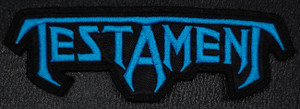 """Testament Logo 4x2"""" Embroidered Patch"""