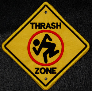 """D.R.I. Thrash Zone 3.5x3.5"""" Embroidered Patch"""