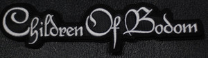 """Children of Bodom White Logo 6x1.5"""" Embroidered Patch"""