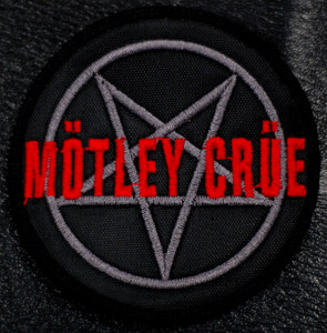 "Motley Crue Pentagram 4x4"" Embroidered Patch"