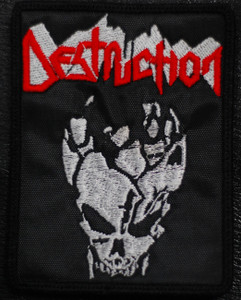 "Destruction Skull 3x4.5"" Embroidered Patch"