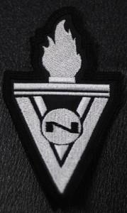 """VNV Nation V Logo 2.5x4"""" Embroidered Patch"""