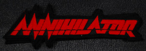 """Annihilator Red Logo 5.5x2"""" Embroidered Patch"""