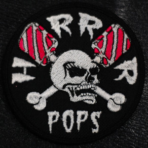 """Horrorpops Skull 3x3"""" Embroidered Patch"""