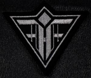 "Feindflug Grey Logo 4x3"" Embroidered Patch"