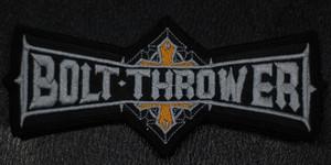 "Bt Trer Grey Logo 5.5x2"" Embroidered Patch"