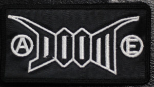 "Doom Logo 4.5x2.5"" Embroidered Patch"