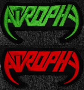 """Atrophy Logo 3x2"""" Embroidered Patch"""