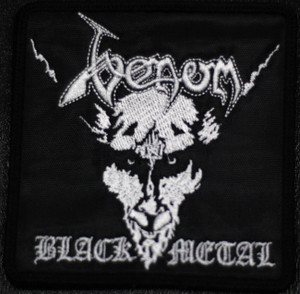 "Venom Black Metal 4x4"" Embroidered Patch"