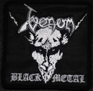 "Venom Black Metal 4x4"" Embroidered Patch"