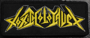"""Toxic Holocaust Yellow Logo 4.5x2"""" Embroidered Patch"""