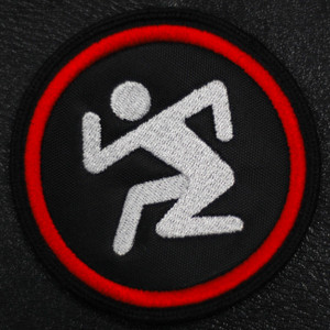"""D.R.I. Dancing Guy Logo 3x3"""" Embroidered Patch"""