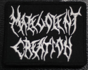 "Malevolent Creation Logo 3x2"" Embroidered Patch"