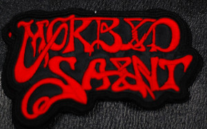 """Morbid Saint Red Logo 3x2.5"""" Embroidered Patch"""