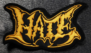 "Hate Gold Logo 4x2"" Embroidered Patch"