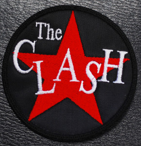 """The Clash Star Logo 3x3"""" Embroidered Patch"""