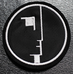 "Bauhaus Face Logo 3x3"" Embroidered Patch"