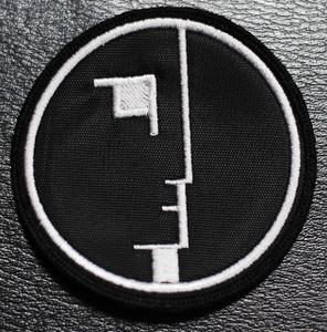 "Bauhaus Face Logo 3x3"" Embroidered Patch"