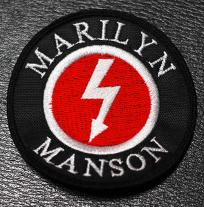 """Marilyn Manson Bolt Logo 3x3"""" Embroidered Patch"""