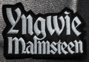 """Yngwie Malmsteen Logo 3.5x2"""" Embroidered Patch"""
