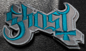 """Ghost Grey Logo 5x2"""" Embroidered Patch"""