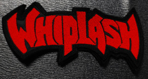 """Whiplash Red Logo 4x2.5"""" Embroidered Patch"""