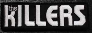 """The Killers White Logo 5.5x1"""" Embroidered Patch"""