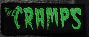 """The Cramps Green Logo 4.5x1."""" Embroidered Patch"""
