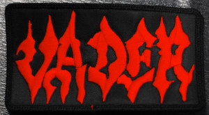 """Vader Red Logo 4x2"""" Embroidered Patch"""