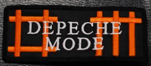 "Depeche Mode DM Orange Logo 4x2"" Embroidered Patch"