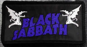 "Black Sabbath Demons Logo 5x2.5"" Embroidered Patch"