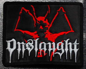"""Onslaught Demon 4x3"""" Embroidered Patch"""