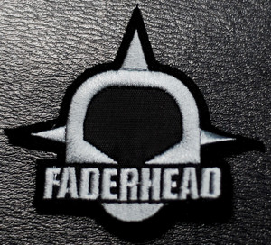"""Faderhead Grey Logo 3x3"""" Embroidered Patch"""
