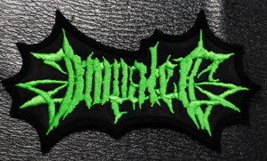 """Impaled Green Logo 3x1.5"""" Embroidered Patch"""