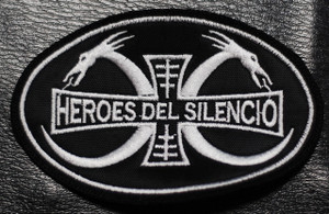 "Heroes del Silencio Dragon Logo 4x3"" Embroidered Patch"