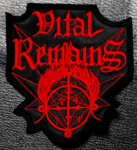 "Vital Remains Red Logo 3x4"" Embroidered Patch"